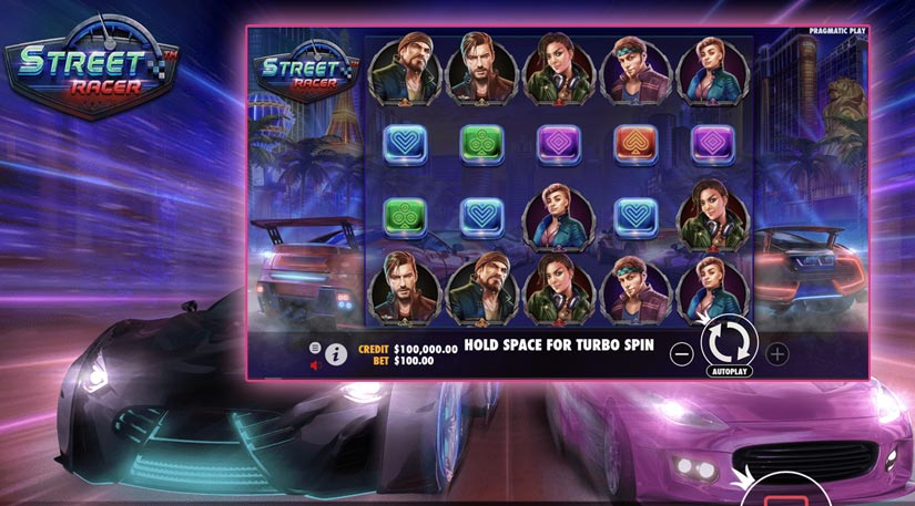 Street racer : un jeu de voiture et d'argent chez pragmatic play